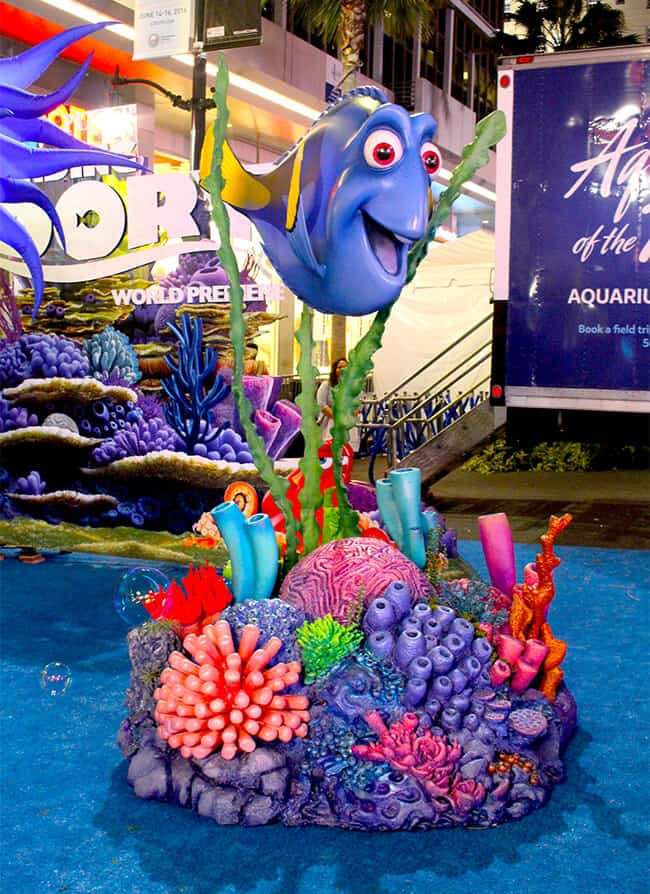 Decorations at Finding Dory Premiere