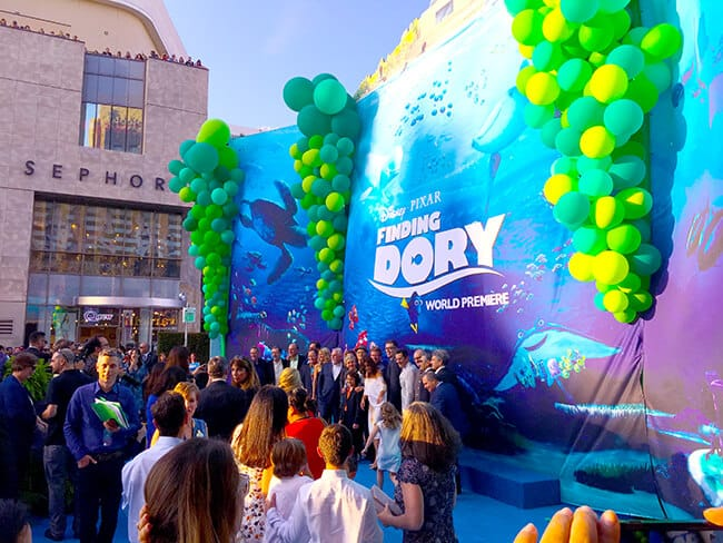Disney Finding Dory Red Carpet