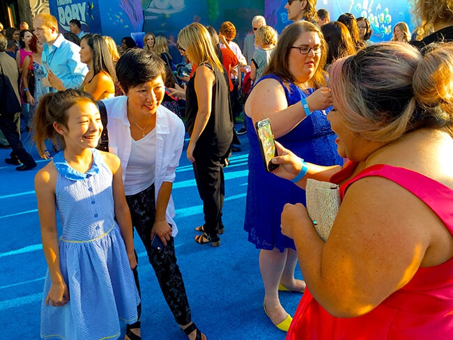 Disney Stars at Finding Dory Premiere