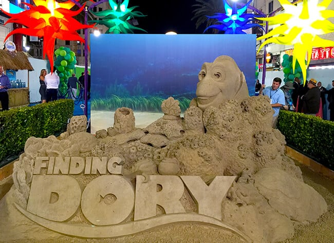 Finding Dory Sand Sculpture