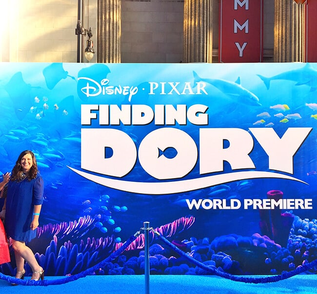 On the Blue Carpet at Finding Dory Premiere