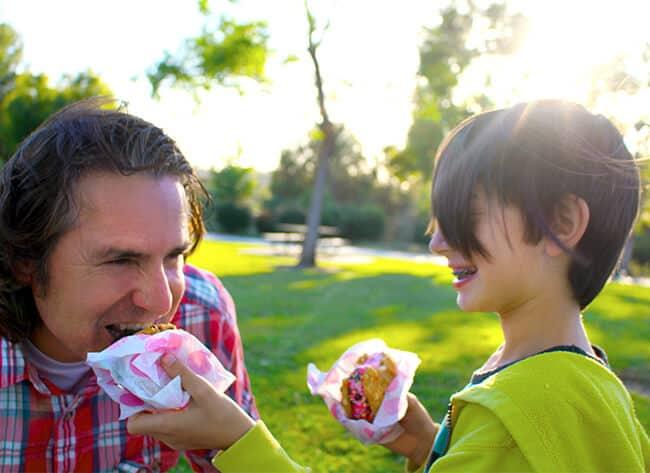 Sharing Baskin Robbins Ice Cream