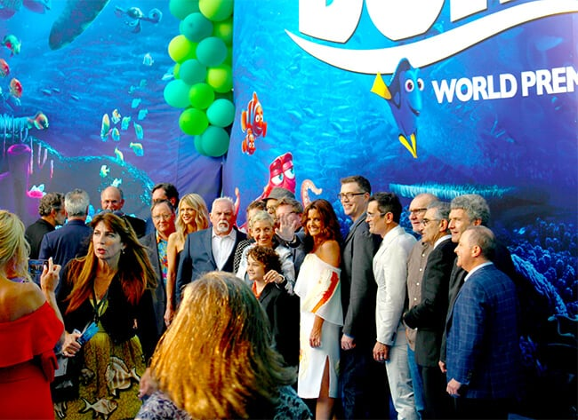 The Finding Dory Cast Photo at Premiere