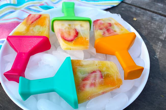 Easy DIY Fruit Salad Popsicles