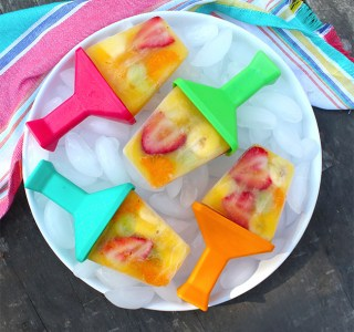 Fruit Salad Popsicles with Simply Orange