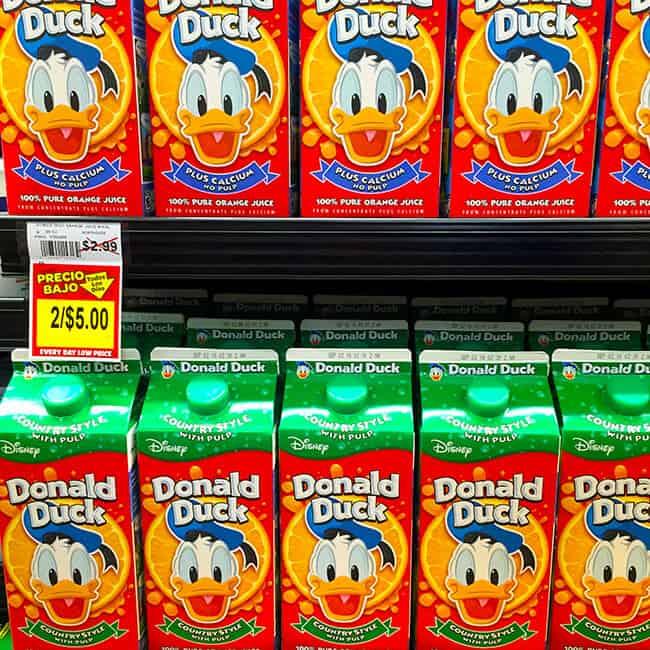 Northgate Donald Duck Orange Juice