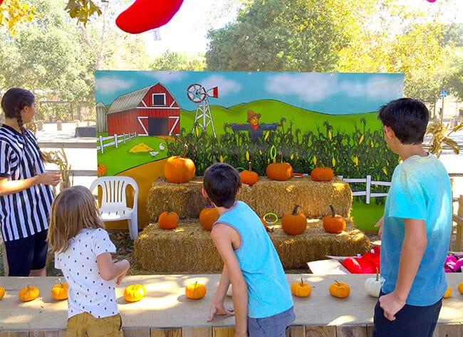 Irvine Park Railroad Pumpkin Patch Ring Toss Game