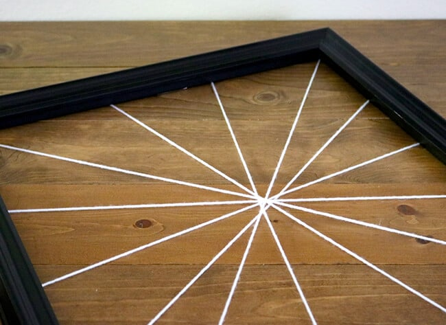 How to Make a Spiderweb Frame