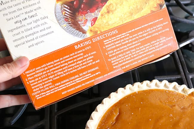 Sara Lee Frozen Pumpkin Pie