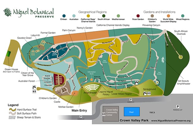 Niguel Botanical Preserve Map