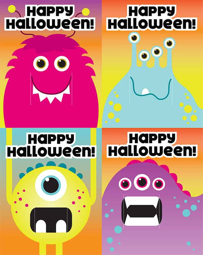 Printable Halloween Candy Cards