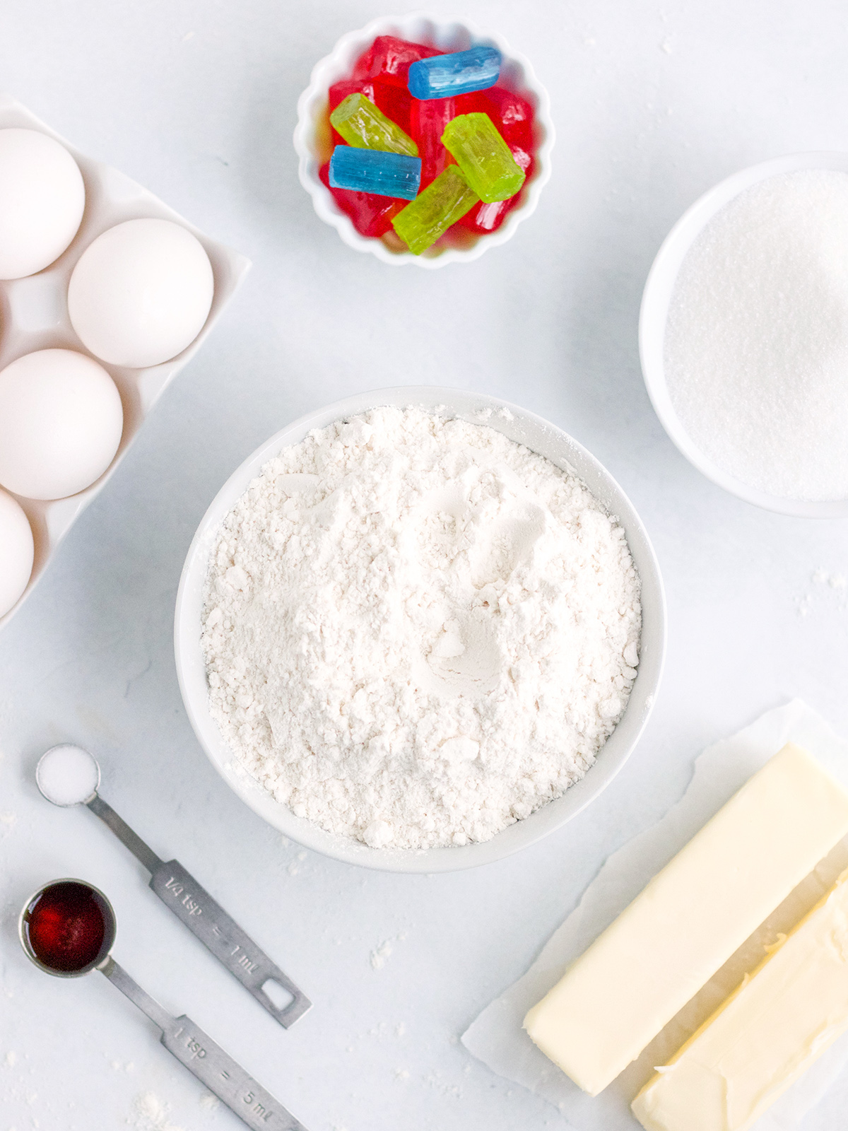 Ingredients for Stained Glass Cookies