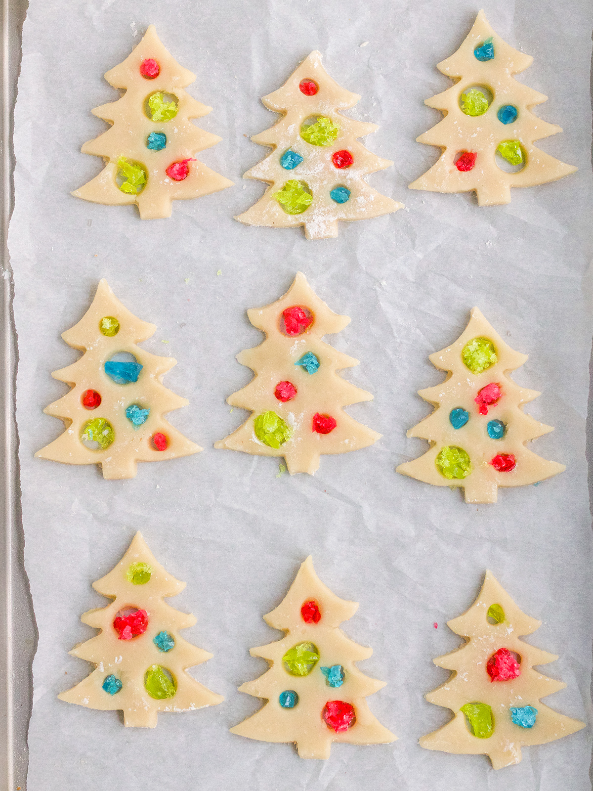 DIY Stain Glass Christmas Cookies