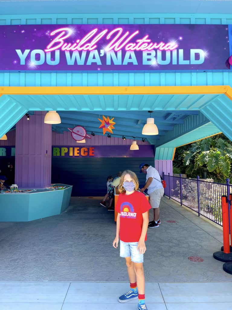 Building with Lego at Legoland