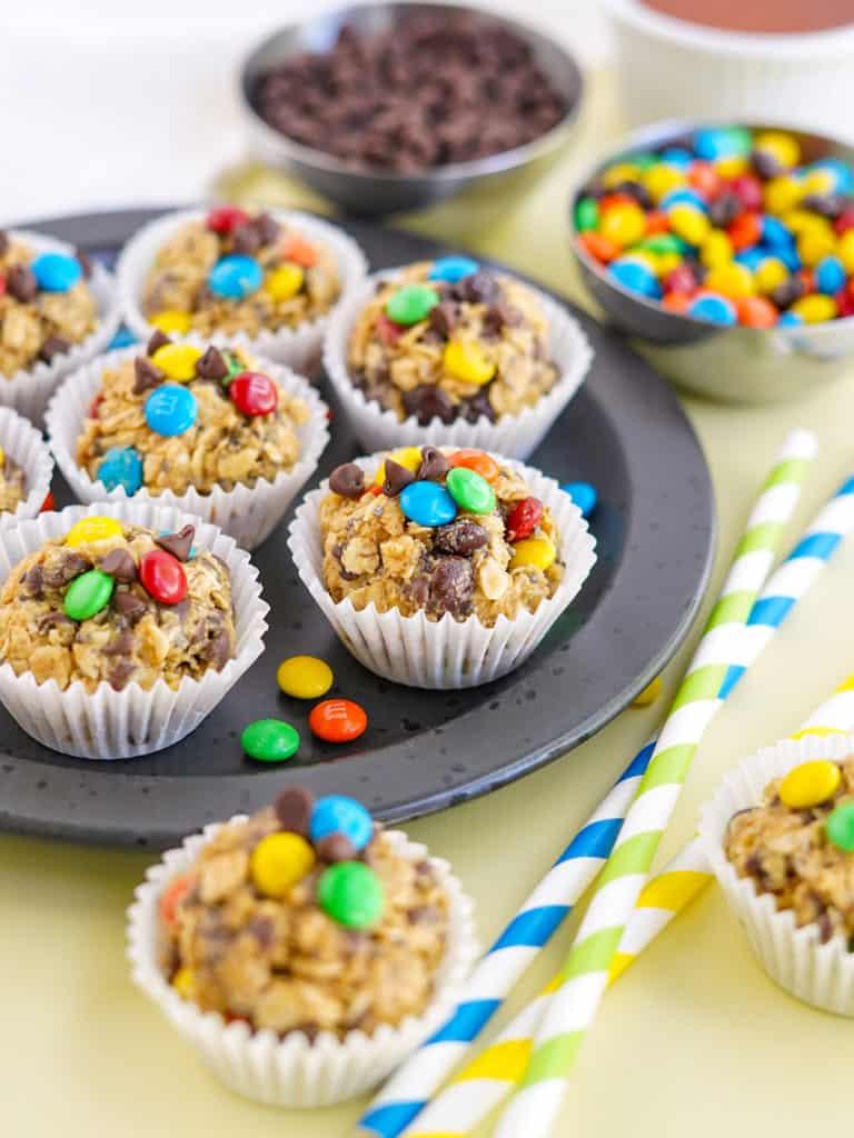 Easy Monster M&M Peanut Butter Protein Balls Recipe