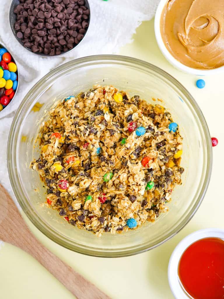 M&M's Monster Peanut Butter Protein Balls Recipe Ingredients